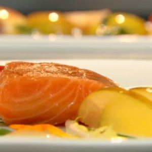Dublin Salmon, Sorrels, Apples, a Scallions Recipe... Oh My!